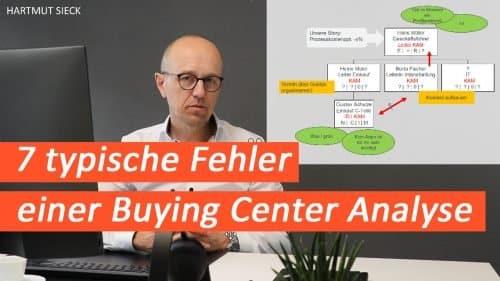 7 Fehler, die wir typischerweise bei der Erstellung einer Buying Center Analyse machen!