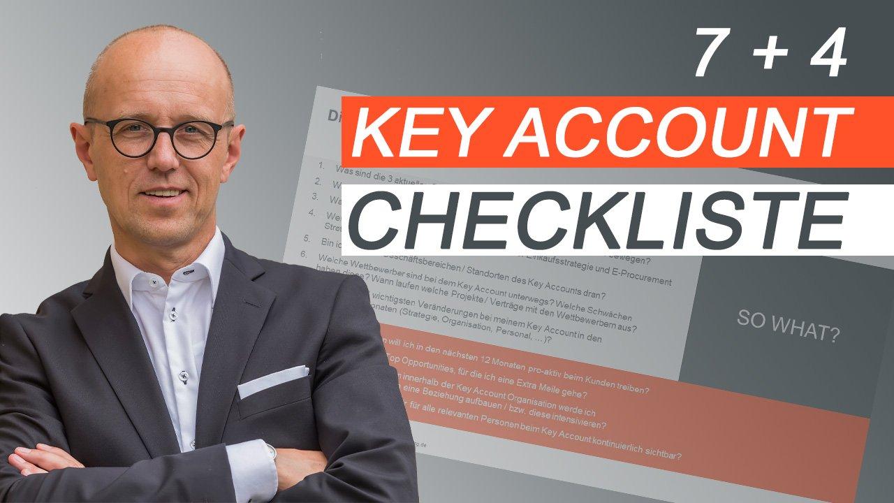 7 + 4 Key Account Checkliste