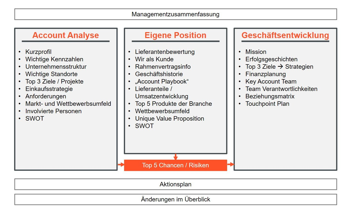 Key Account Plan Aufbau / Struktur