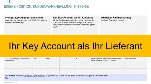 Ihr Key Account als Ihr Lieferant