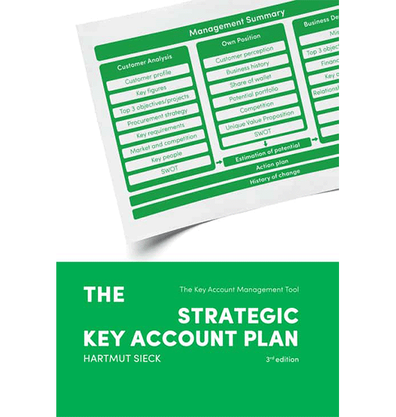 "Buch ""The strategic Key Account Plan"" von Hartmut Sieck"