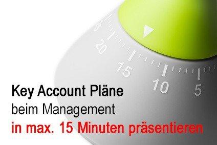 4 Punkte, um einen Key Account Plan erfolgreich beim Management in nur 15 Minuten zu präsentieren
