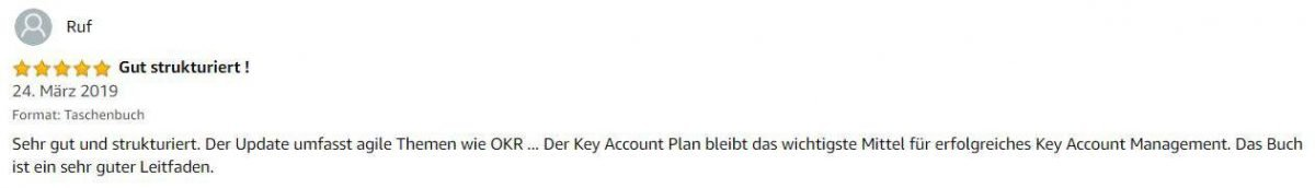 """Rezension zum Buch """"Der strategische Key Account Plan"""" von Hartmut Sieck"""