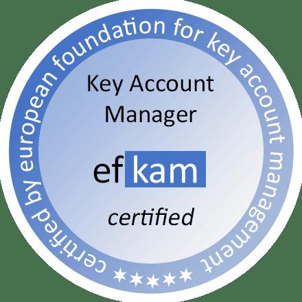 Siegel Key Account Manager certified nach efkam