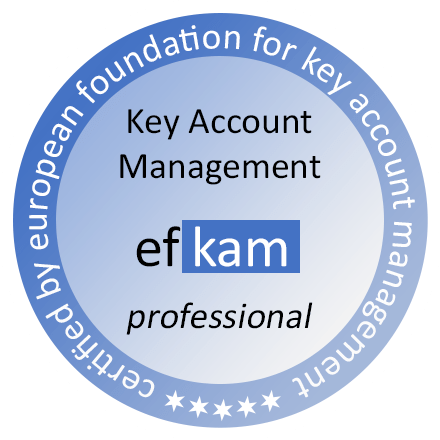 Key Account Management Zertifizierung nach efkam Siegel