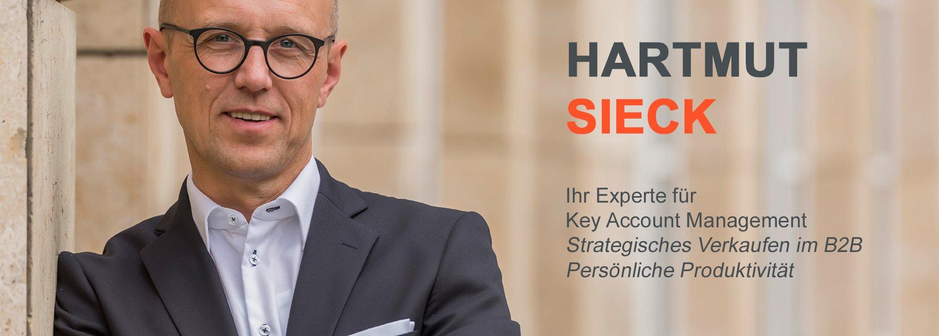 Hartmut Sieck - Experte für Key Account Management, strategisches Verkaufen im B2B, persönliche Produktivität