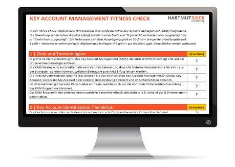 Key Account Management Fitnesscheck von Hartmut Sieck