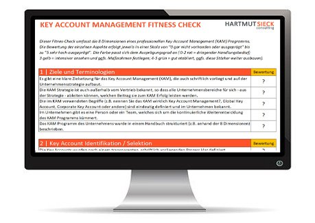Key Account Management Fitness Check von Hartmut Sieck