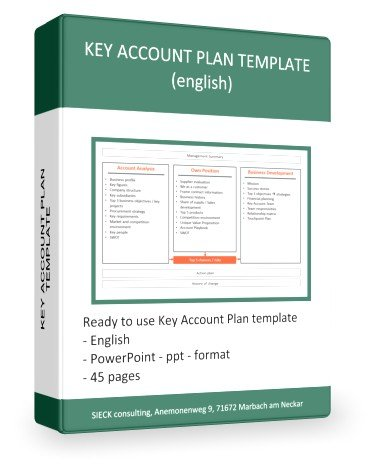 Key Account Plan template (powerpoint, pptx format)