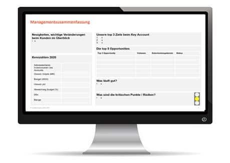 Key Account Plan Vorlage (ppt Format) von Hartmut Sieck
