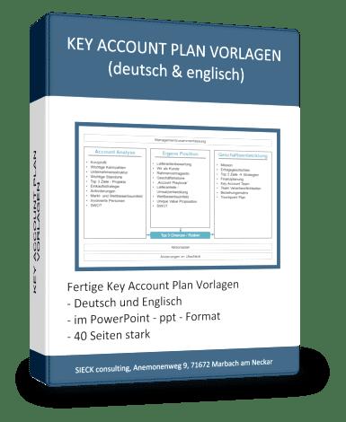 Key Account Plan Vorlagen Paket (pptx, deutsch / englisch) von Hartmut Sieck