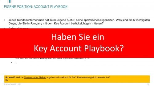 Haben Sie ein Key Account Playbook?