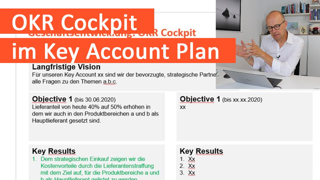 OKR Cockpit im Key Account Plan