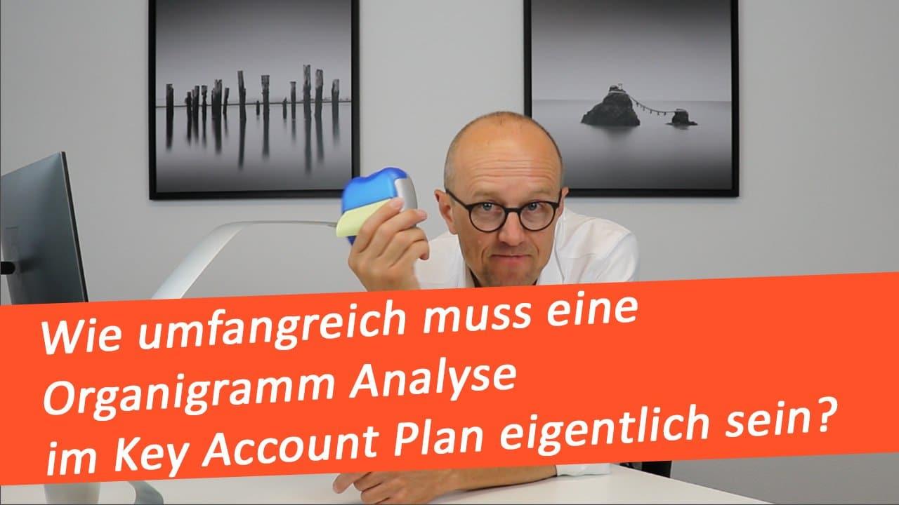Wie umfangreich muss eine Organigramm Analyse im Key Account Plan eigentlich sein?