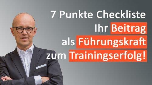 Checkliste: Beitrag der Führungskraft zum Erfolg eines KAM Trainings