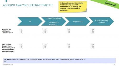 Die Wertschöpfungskette im Key Account Plan (indirekte Kunden als Key Accounts)