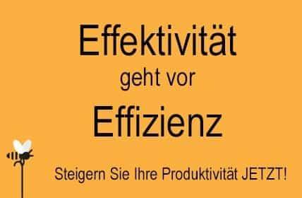 Effektivität geht vor Effizienz